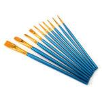 New              10Pcs Nylon Hair Artist Paint Brushes Set Kit Lot Oil Watercolour Art Oil Acrylic Painting Brush Pens Craft