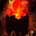 New              New LED Artificial Silk Flame Fire Glow Effect Party Light Lamp Decorations UK/AU/US/EU Plug