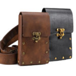 New              Medieval Renaissance Retro Punk Unisex Faux Leather Waist Pack Bag Phone Storage Bag Cosplay Knight Pirate Belt Costume Accessory