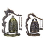 New              Bronze Bell Carved Dragon Buddhist Clock Bronze Chinese Good Luck Bell Desk Decorations