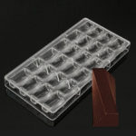 New              3D Clear Chocolate Mold Candy Jelly Mould Tray Pastry Polycarbonate Baking Tools