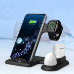 New              5/7.5/10w Qi Wireless Charger Fast Charging Docking Stand ForSamrt Phone for iPhone 11 XS X Apple Watch Apple AirPods