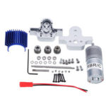 New              Metal Transfer Case Box+370 Motor Set for WPL B16 B24 B36 C24 JJRC Q65 1/16 Rc Car Parts