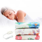 New              220V Electric Heated Blanket 2 Modes Polyester Floral Printed Bedroom Travel Warm Blankets Pad