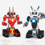 New              XuanPing DIY STEAM Block Building RC Robot Stick / App Control Progarmmable Robot Toy