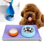 New              Silicone Dog Placemat Pet Cat Dish Bowl Feeding Food Water Mat Wipe Clean Pet Blow