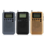 New              Portable Digital LCD FM/AM 2 Band Stereo Radio Mini Pocket Receiver with Earphone