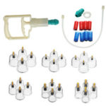 New              24Pcs Cup Chinese Vacuum Body Cupping Massager Therapy Cans Vacuum Cupping Tank