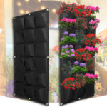 New              18 Pocket Planting Bag Garden Wall Vertical Flower Herb Greening Hanging Outdoor