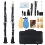 New              IRIN 17 key Bb Adjustable Gum Wood Clarinet with Case/Bass StripReed/Screwdriver/Gloves