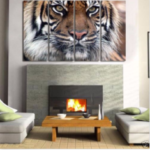 New              4PCS HD Canvas Print Wall Art Paintings Picture Bengal Tiger Unframed Home Decor