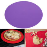 New              11.8″ Silicone Round Baking Mat Oven Microwave Cookie Pizza Pastry Sheet Pizza Mat