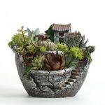 New              Clay Sky Garden Succulent Planter Flower Pots Cacti Moss Bonsai Plant Pot Basket Box