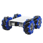 New              D-44 DIY Smart Metal RC Robot Car Chassis Base With 103mm Omni Wheels
