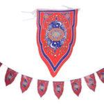 New              8PCS Ramadan Flag Islamic Bunting Hanging Flag Eid Mubarak Party Decorations