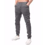 New              Mens Sports Drawstring Solid Color Trousers