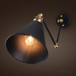 New              Vintage Retro Industrial Swing Arm Sconce Wall Light Loft Lamp Fixture Fitting(Material: Copper+Iron)