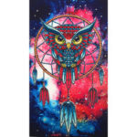 New              5D Colorful Owl Special-shaped Drill DIY Diamond Paintings Crystal Rhinestone Kit Painting Decorations