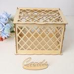 New              DIY Rustic Wooden Card Box Wedding Wishing Box Lock Gift Wedding Party Favor