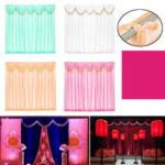 New              Wedding Party Backdrop Curtains Background Decor Draping Removable Swags Decor