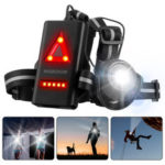 New              SGODDE Outdoor Night Running Light LED Front Bike Running Light With 120 ° Adjustable Beam Safety Warning Belt With Rechargeable Battery