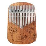 New              Cega 17 Key Mahogany Kalimbas Full Solid Veneer Round Corner Plate Thumb Piano Finger Percussion