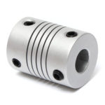 New              5pcs 5mm x 8mm Aluminum Flexible Shaft Coupling OD19mm x L25mm CNC Stepper Motor Coupler Connector