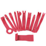 New              11PCS Red Interior Trim Removal Tool Set For Car Audio System Dashboard Door Panel