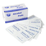 New              100Pcs 70% Disposable Alcohol Swabs Wipes