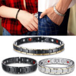 New              Men Woman Stainless Steel Magnetic Bracelet Therapy Energy Jewelry Health Care