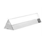 New              50-150mm Crystal Glass Triple Triangular Prism Photography Light Spectrum Physics Teaching Aid