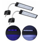 New              100-240V 10W Clip-on LED Aquarium Light Fish Tank Decoration Lighting Lamp with White & Blue LEDs, Touch Control, 2 Modes