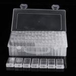 New              64 Grid Diamond Embroidery Painting Nail Art Accessory Display Storage Box