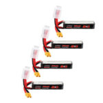 New              4Pcs URUAV 11.4V 300mAh 70C/140C 3S Lipo Battery XT30 Plug for RC FPV Racing Drone