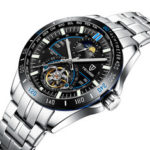 New              TEVISE T855A Full Steel Automatic Mechanical Watch