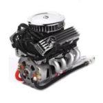 New              Old V8 Simulation Engine Fan Radiator F82 Electric Fan Hood RC Car Parts
