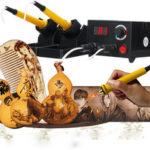 New              Multifunction Adjustable Wood Burning Craft Pyrography Machine Woodwork Tools Kit