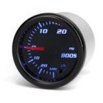 New              12V 2″ 52mm Turbo Boost Gauge Vacuum Press Meter 0-30PSI 7 Color LED Black Len