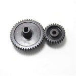 New              2Pcs/set Decelerate Steel Gear+Motor Gear For Wltoys 144001 RC Car Parts