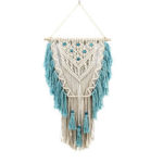 New              Hand Knotted Macrame Wall Art Handmade Bohemian Hanging Tapestry Room Decorations
