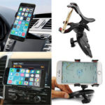 New              Universal 360° Rotating Car CD Slot GPS Clip Mount Holder for Mobile Cell Phone