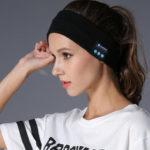 New              Bakeey Z3 Wireless bluetooth 5.0 Relax HIFI Music Speaker Headset Sport Headband bluetooth Receiver Sleeping Mask with Mic
