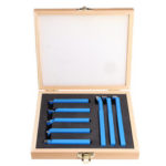 New              8Pcs Welding CNC Lathe Cutting Tool 8mm/10mm/12mm  Carbide Turning Tool Set with Wooden Box