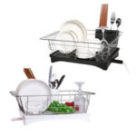 New              Kitchen Drain Shelf Dish Rack Plates Bowl Drying Organizer Holder Drainer Stainless Steel