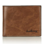 New              Baellerry Men Leather Wallet Card Holder Coin Purse Pocket