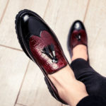 New              Genuine Leather Spicing Brogue Business Formal Oxfords