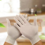 New              100 pcs Thickness Disposable Glove Work Glove Food Prep Cooking Gloves / Kitchen Food Service Cleaning Gloves Safety