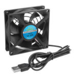 New              8CM 5V USB Router TV Box Cooling Fan for DIY Cooling Ventilation Exhaust Project