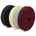 New              3pcs 6 inches Polishing Sponge Pad Car Waxing Buffing Compound Flat Sanding Pads