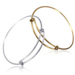 New              10/20Pcs Silver Plated Expandable Adjustable Bulk Wire Wrapped Bangle